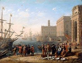 View of a Port with the Capitol, c.1636 von Claude Lorrain | Gemälde-Reproduktion