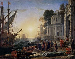 Cleopatra Disembarking at Tarsus | Claude Lorrain | outdated
