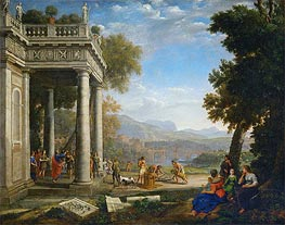 David Crowned by Samuel, 1639 by Claude Lorrain | Painting Reproduction
