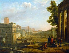 View of the Campo Vacino | Claude Lorrain | Painting Reproduction