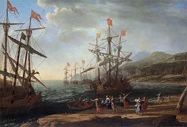 The Trojan Women Setting Fire to Their Fleet, c.1643 by Claude Lorrain | Painting Reproduction