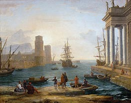 Seaport, Effects of Fog (Embarkation of Ulysses) | Claude Lorrain | Painting Reproduction