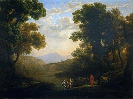 Fording a River | Claude Lorrain | outdated