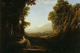 Landscape with Saint Mary of Cervello, c.1636/38 von Claude Lorrain | Gemälde-Reproduktion