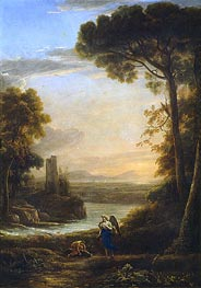 The Archangel Raphael and Tobias, c.1639/40 by Claude Lorrain | Painting Reproduction