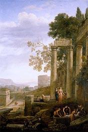 The Burial of Saint Seraphia, c.1639/40 von Claude Lorrain | Gemälde-Reproduktion
