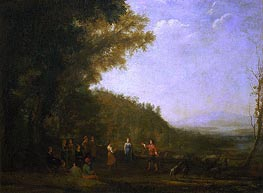 Rustic Dance, 1637 by Claude Lorrain | Painting Reproduction