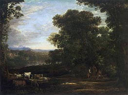 Landscape with Cattle and Peasants | Claude Lorrain | veraltet