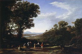 Villagers Dancing, c.1635/40 by Claude Lorrain | Painting Reproduction