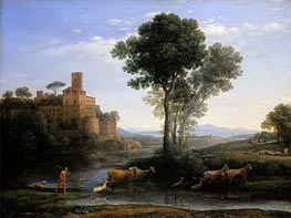 Landscape with the Voyage of Jacob, 1677 by Claude Lorrain | Painting Reproduction