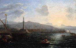 The Port of Genoa, c.1627/29 by Claude Lorrain | Painting Reproduction