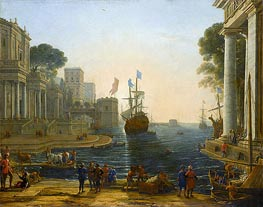 Ulysses Returns Chryseis to Her Father | Claude Lorrain | veraltet