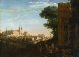A View in Rome | Claude Lorrain | Gemälde Reproduktion