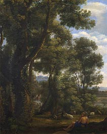 Landscape with a Goatherd and Goats | Claude Lorrain | veraltet