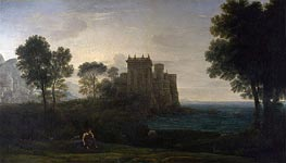 The Enchanted Castle, 1664 by Claude Lorrain | Painting Reproduction