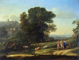 Landscape with Cephalus and Procris Reunited by Diana | Claude Lorrain | Gemälde Reproduktion