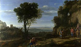 Landscape with David at the Cave of Adullam | Claude Lorrain | Gemälde Reproduktion