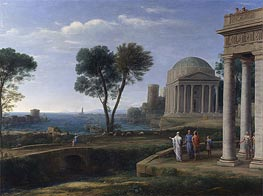 Landscape with Aeneas at Delos | Claude Lorrain | Gemälde Reproduktion