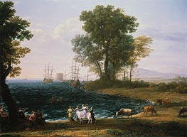 Coast Scene with the Rape of Europa | Claude Lorrain | Gemälde Reproduktion