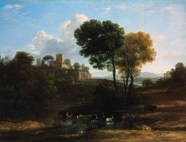 Villa in the Roman Campagna | Claude Lorrain | Painting Reproduction