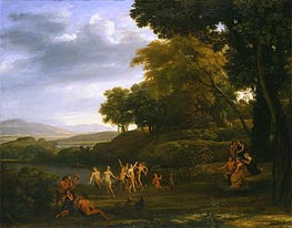Landscape with Dancing Satyrs and Nymphs | Claude Lorrain | Painting Reproduction