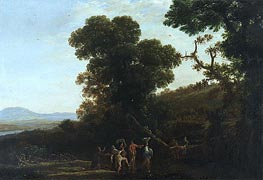 Landscape with Figures Wading Through a Stream | Claude Lorrain | Gemälde Reproduktion