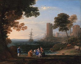 Coast View with the Abduction of Europa | Claude Lorrain | Gemälde Reproduktion