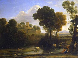 Italian Landscape, 1648 by Claude Lorrain | Painting Reproduction
