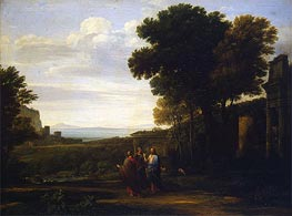 Landscape with Christ on the Road to Emmaus, 1660 by Claude Lorrain | Painting Reproduction