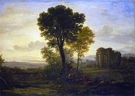 Landscape with Jacob, Rachel and Leah at the Well | Claude Lorrain | Gemälde Reproduktion
