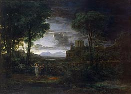 Landscape with Jacob Wrestling with the Angel | Claude Lorrain | Gemälde Reproduktion