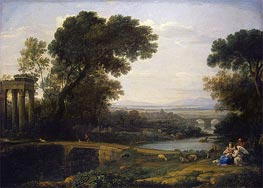 Landscape with the rest on the Flight into Egypt | Claude Lorrain | Gemälde Reproduktion