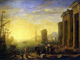 Morning in the Harbour, c.1635/40 by Claude Lorrain | Painting Reproduction
