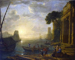 Morning in the Harbour, c.1637/40 by Claude Lorrain | Painting Reproduction