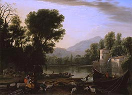 Mill on a River, 1631 by Claude Lorrain | Painting Reproduction