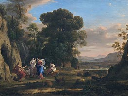 The Judgment of Paris, c.1645/46 by Claude Lorrain | Painting Reproduction