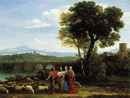 Landscape with Jacob and Laban and His Daughters, 1659 by Claude Lorrain | Painting Reproduction