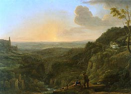 A View of the Campagna from Tivoli, c.1644/45 by Claude Lorrain | Painting Reproduction