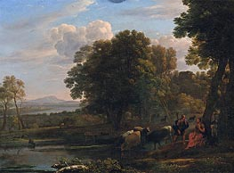 An Evening Landscape with Mercury and Battus | Claude Lorrain | veraltet