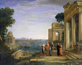 Aeneas and Dido in Carthage | Claude Lorrain | veraltet