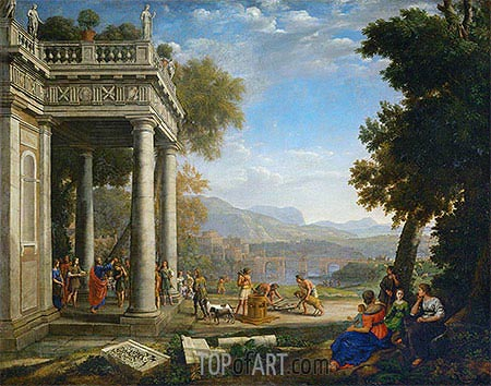 David Crowned by Samuel, 1639 | Claude Lorrain| Painting Reproduction