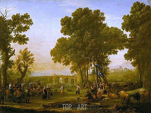 The Village Festival, 1639 | Claude Lorrain| Painting Reproduction