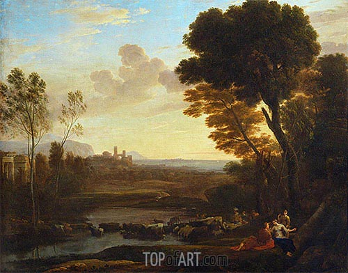 Claude Lorrain | Landscape with Paris and Oenone (The Ford), 1648