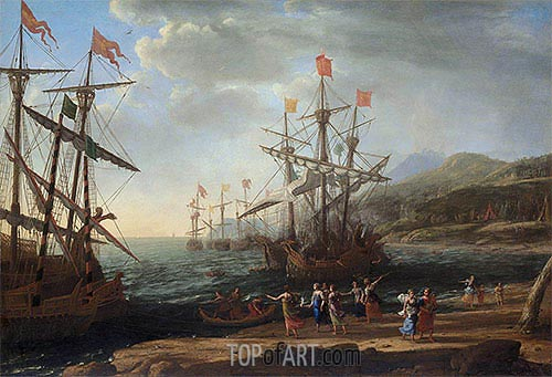 The Trojan Women Setting Fire to Their Fleet, c.1643 | Claude Lorrain| Painting Reproduction