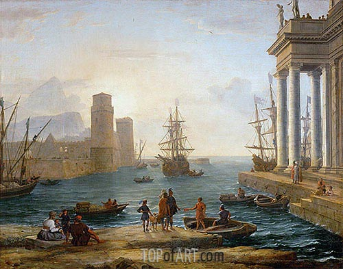 Seaport, Effects of Fog (Embarkation of Ulysses), 1646 | Claude Lorrain | Painting Reproduction