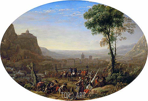 Louis XIII Takes the Pass at Suse in 1629, c.1631 | Claude Lorrain | Painting Reproduction