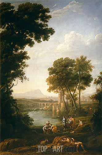 Moses Saved from the Waters of the Nile, c.1639/40 | Claude Lorrain | Painting Reproduction
