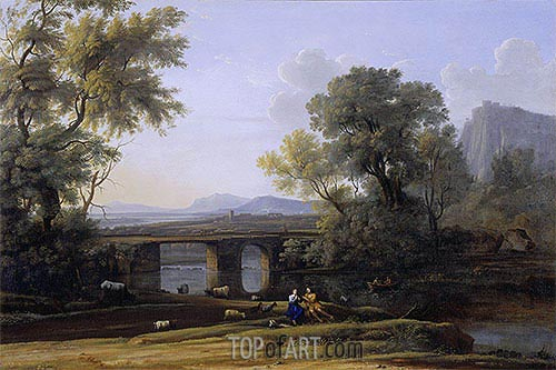 Pastoral Landscape, undated | Claude Lorrain| Painting Reproduction