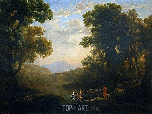 Fording a River, c.1636 | Claude Lorrain| Painting Reproduction