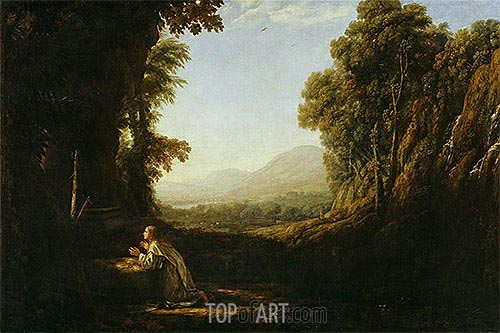 Landscape with Saint Mary of Cervello, c.1636/38 | Claude Lorrain| Painting Reproduction